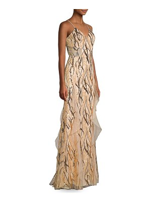 Milly sequined vines tulle gown
