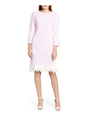 Ming Wang lace trim knit dress