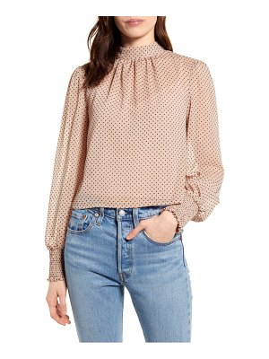 Minkpink be someone flocked dot top