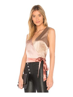 MINKPINK Colour Block Wrap Top