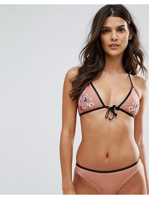 Minkpink devoted tie front bikini top