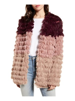 Minkpink lost weekend colorblock faux fur jacket