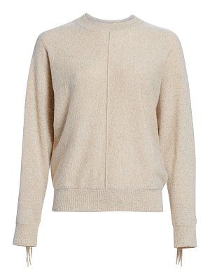 Minnie Rose cashmere fringe sweater