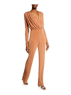 MISHA COLLECTION Atlanta Long-Sleeve Wrap-Top Jumpsuit