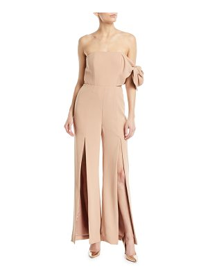MISHA COLLECTION Linsey Strapless Flared-Leg Pantsuit