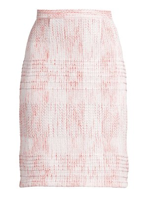 Misook multi-tweed pencil skirt