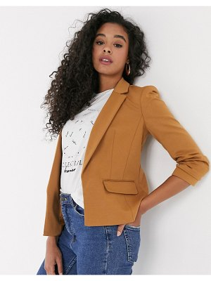 Miss Selfridge blazer in camel-tan