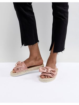 Miss Selfridge Bow Espadrille Sandals