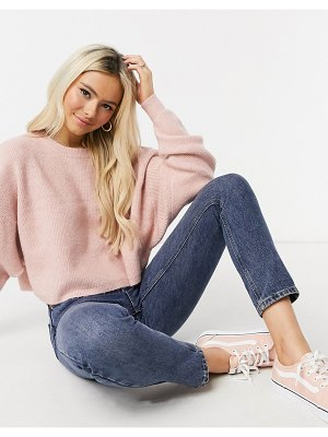 Miss Selfridge boxy sweatshirt in pink