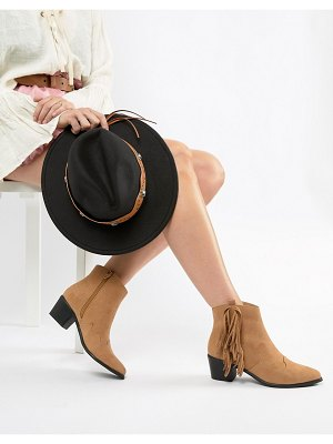 Miss Selfridge exclusive fringed ankle boot