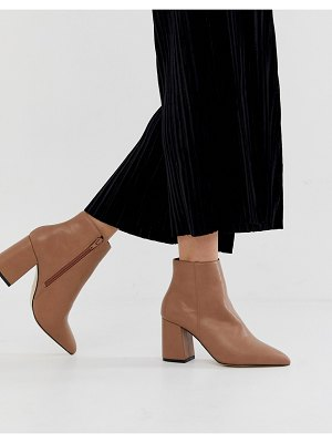 Miss Selfridge pointed heeled boots in nude