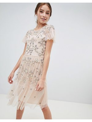 Miss Selfridge midi dress with all over embellishment