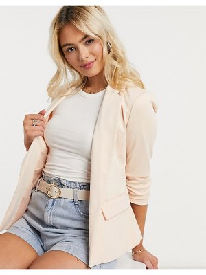Miss Selfridge ponte blazer in sand-tan