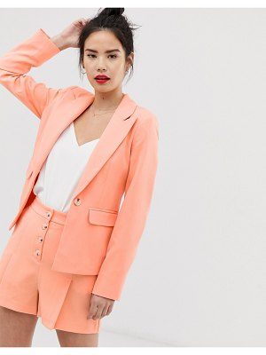 Miss Selfridge tailored blazer in apricot
