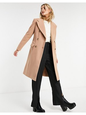 Miss Selfridge tailored coat in brown