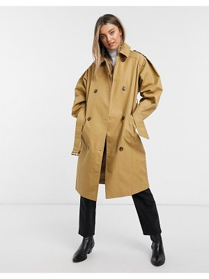 Miss Selfridge trench coat in camel-tan