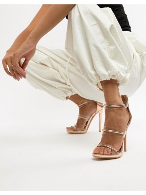 MISSGUIDED 3 strap barely there sandals