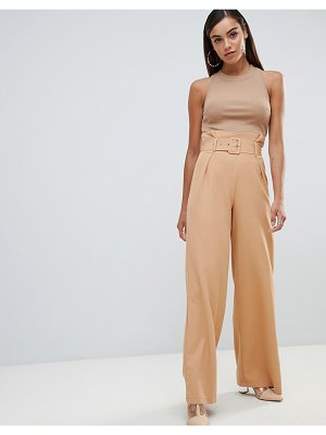 MISSGUIDED Belted Paperbag PANTS