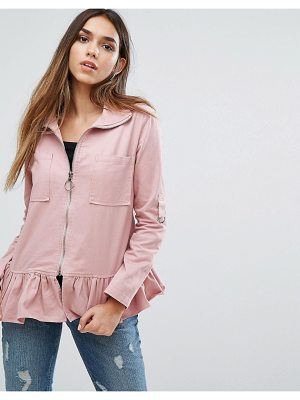 MISSGUIDED Frill Hem Jacket