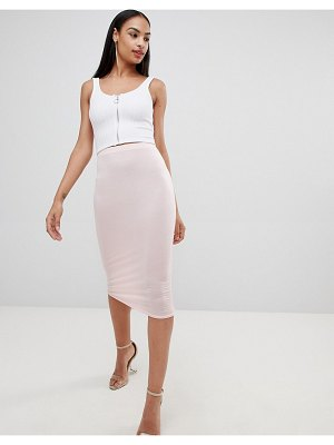 MISSGUIDED jersey midi skirt