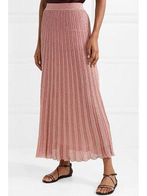 Missoni metallic striped crochet-knit maxi skirt