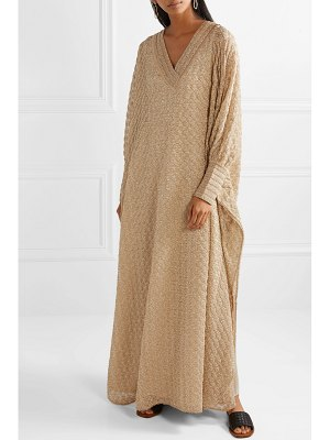 Missoni oversized picot-trimmed crochet-knit maxi dress