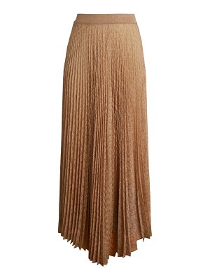 Missoni pleated lurex maxi skirt