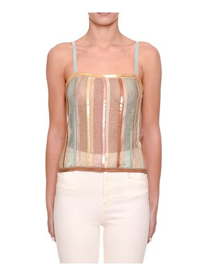 Missoni Sewn-In Sequin Knit Cami Top