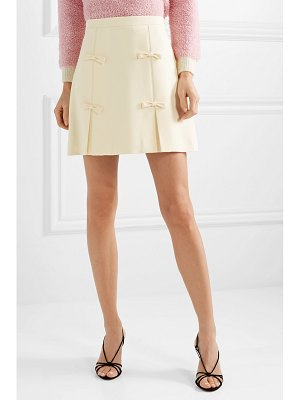Miu Miu bow-embellished cady mini skirt