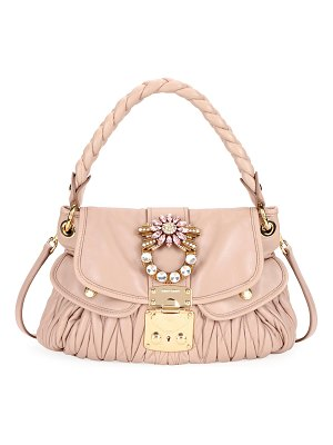 Miu Miu Coffer Small Matelasse Leather Top-Handle Satchel Bag