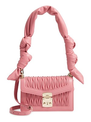 Miu Miu confidential matelasse quilted lambskin crossbody bag