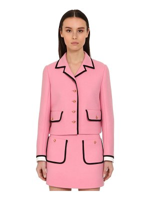 Miu Miu Cropped virgin wool tricot jacket