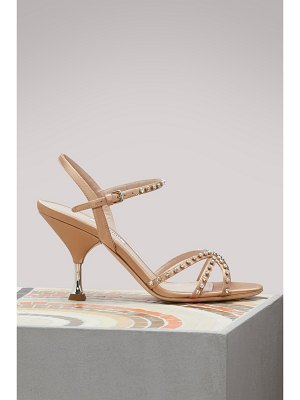 Miu Miu Crystal-detailed sandals