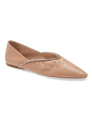Miu Miu crystal embellished pointed toe ballet flat