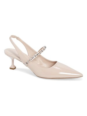 Miu Miu crystal strap pointed toe slingback pump