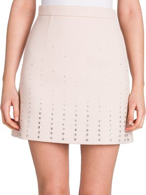 Miu Miu embellished wool mini skirt