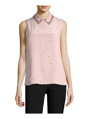 MIU MIU Embroidered Button-Back Blouse