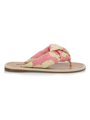 Miu Miu floral-print leather thong sandals