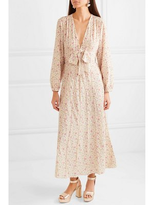 Miu Miu floral-print silk crepe de chine dress