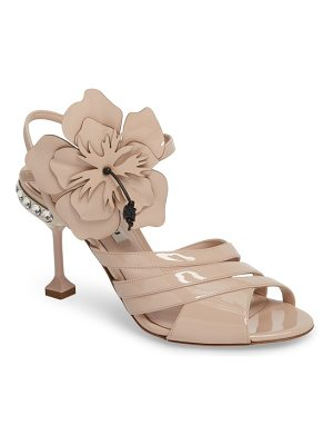 MIU MIU Flower Applique Sandal