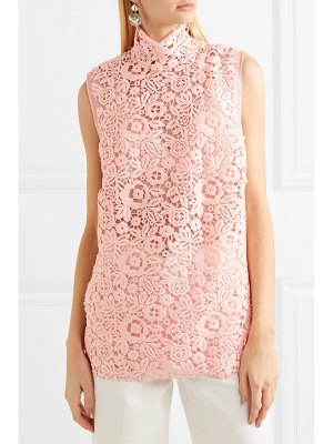 Miu Miu lace and silk-organza top