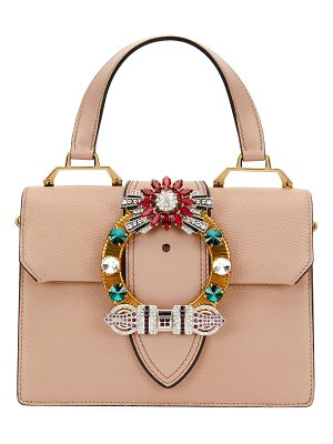 Miu Miu Lady Jeweled Top-Handle Bag