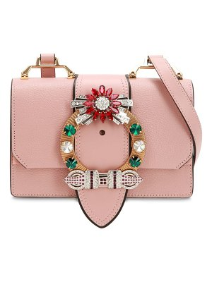 Miu Miu Lady madras leather shoulder bag