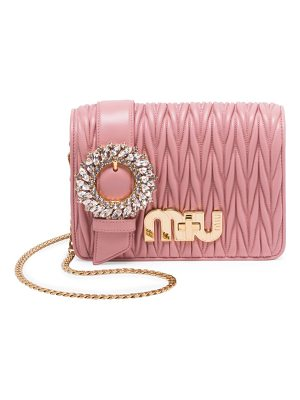 Miu Miu crystal matelasse leather mini crossbody bag