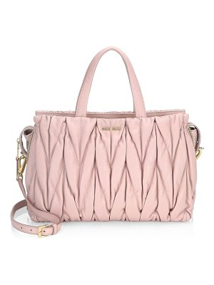 Miu Miu leather top handle bag