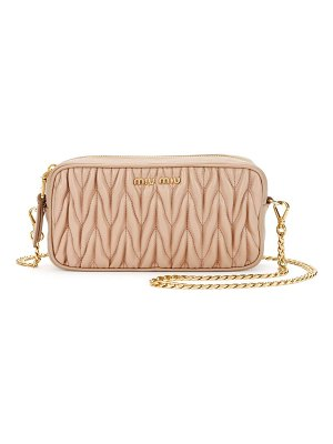 Miu Miu Matelasse Leather Belt Bag