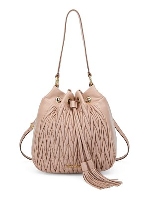 Miu Miu Matelasse Leather Hobo Bag