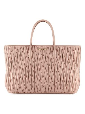 MIU MIU Matelassé Leather Tote Bag