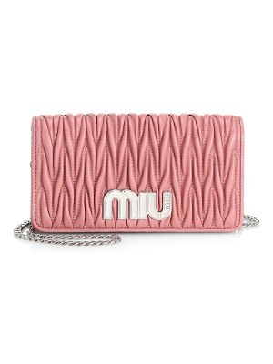 Miu Miu matelasse logo wallet-on-chain