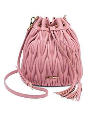 MIU MIU Metalasse Leather Bucket Bag